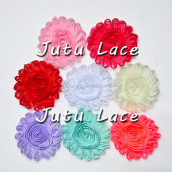7colors 4inch Big shabby flower By 7.5yards abundle