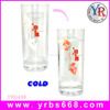 Publicity sport photo glass color changing magic mugs, cold orca coating mugs