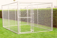 """Alibaba china fully welded 1 3/8"""" O.D. glavanized tubing frames 4 x 4 x 6 H Complete Kennel"""