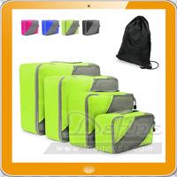 Wholesale China factory high quality nylon travel packing cubes storage organizer