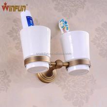 Double tumbler/cup holder new design Antique bronze finish bathroom accessories set 1203F
