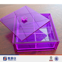 Yageli clear acrylic boxes waterproof/clear acrylic storage boxes