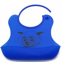 Attractive hot sell durable and washable silicone baby bibs