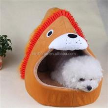 Plush animal shaped pet bed cutel lion soft pet beds