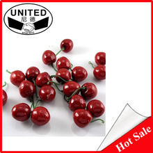 Fashion DIY Plastic Artificial Cherry Crafts Imitated Fruit Home Decor Crafts House Party kitchen decor