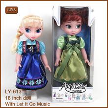 Venda quente da boneca frozens, frozens brinquedos, boneca de porcelana