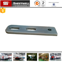 zinced steel stamping parts zinced plating steel sheet metal cutting service