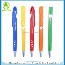 Wholesale fashion plastic pen, customized logo ball pen, promotional cheap ballpen