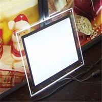 transparent acrylic picture frame led light box