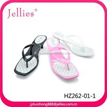 Lady's PVC high heel slipper plastic flip flop