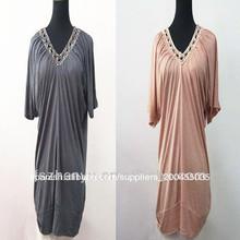 señoras 2014 venta caliente nuevo diseño elegante blusa de manga corta blusa de cuentas
