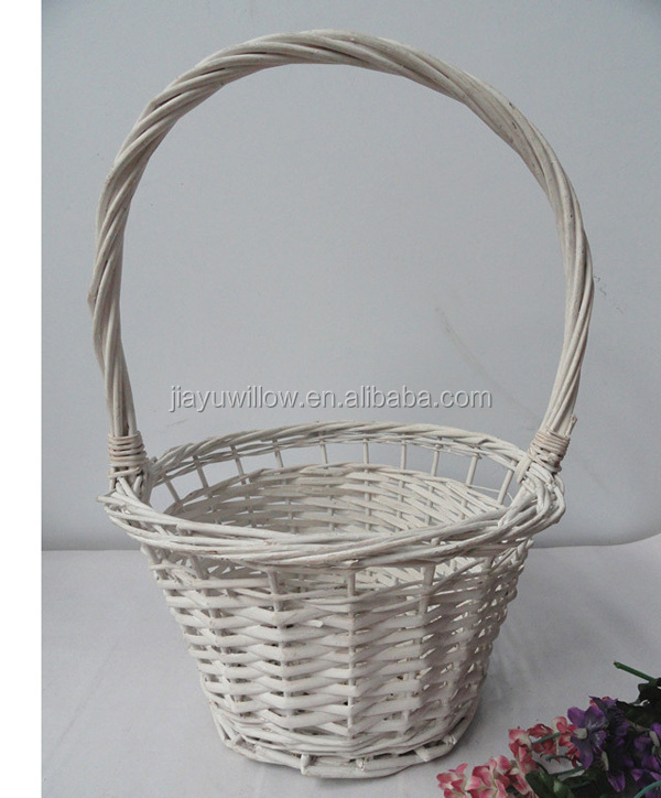 Rattan Flower Baskets : Wicker flower basket girl baskets wholesale hanging