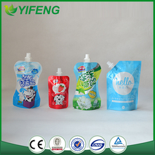 2015 New Design Low Price Drink Pouch With Spout Packaging