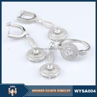 micro pave set CZ 925 sterling silver fashion jewelry wholesale