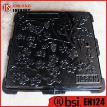 EN124 epoxy coating ductile iron manhole cover for garden factory sale