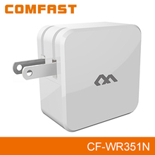COMFAST CF-WR351N Dual-polarized 300Mbps Antenna EEE802.11 b/g/n Access Point Wireless travel Repeater vhf repeater