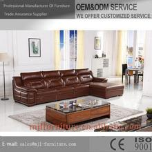 New most popular leather hotel lobby sofa
