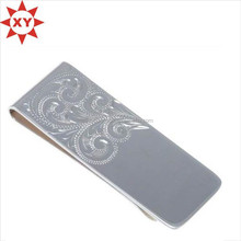Factory custom classical metal engraved money clip