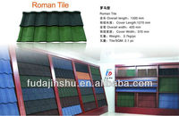 Red/green/blue 24 colors Color stone coated chip roof tiles