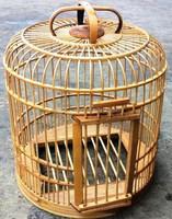 Stylish non toxic long-lasting natrural ecological bamboo bird cage