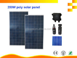High efficiency 250W Poly Solar Panel