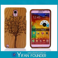 Best Price Real Wood Phone Case/ For Wood Samsung Galaxy Note3 Cover/ Bamboo Bumper Case