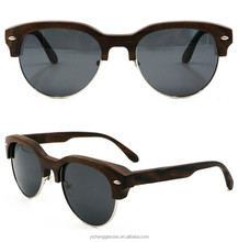 Attraction durable ebony wooden sunglasses hand made carving design factory direct sale