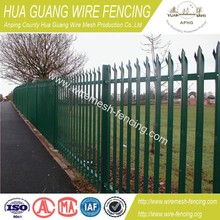 hot sale Factory supply the cheaper palisade fencing hot dipped galvanized palisade fencing get BV certificate palisade fencing