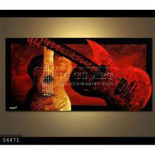 Handmade abstract music oil painting musical instrument violin Art