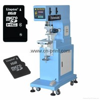 china manufacturer sealed ink cup 1-color pad printing machine for micro sd card and usb portable printer