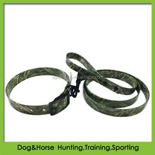 Four season designs camouflage hunting dog leash with TPU coated nylon webbing