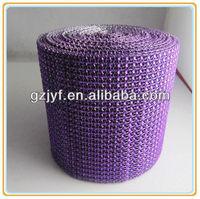 24 row imitate rhinestone mesh trimming banding for garment decoration