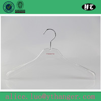 clear plastic hangers with logo