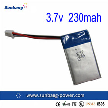 high quality Li-polymer battery 502030 3.7v 230mah LP battery manufacturer