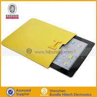 Luxury PU leather pouch case for ipad 2/3 new ipad