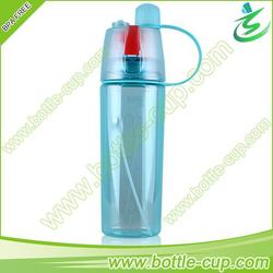 600ml tritan plastic mist spray sport water bottle carrier