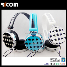 wired headphone for computer and mobile,custom designed headphone,cute headphone for girls--HO7048--Shenzhen Ricom