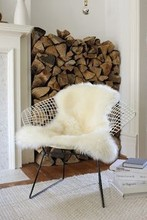 wholesale lamb fur chair cover
