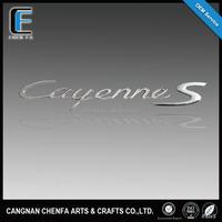 Low price custom abs plastic chrome 3d car logo for Porsche Cayenne
