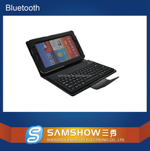 Keyboard Arabic Pu Leather Silicone Keyboard Wireless Bluetooth Tablet Keyboard Case Cover For Samsung P3100 P6200