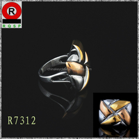 Wholesale Latest plain Golden Finger rings stainless steel rings wedding bands turkish jewelry