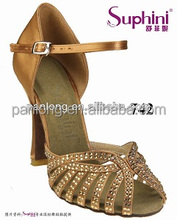 Elegant Black Women Dance Shoes With Rhineston Open Toe High Heel Latin Shoes Sexy Sandals