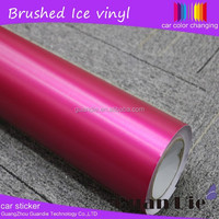 Guangzhou Scratch resistant Metallic rose red color change laptop vinyl good Extrude car sticker with air bubbles 1.52*20m