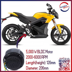 CE lighjt weight brushless dc 3kw 5kw 10kw 20kw electric motorcycle motor