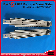 DY4507SND light ball bearing undermount soft close drawer slides for cabinet drawer rail