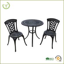 Cast aluminum bistro set black aluminum outdoor table