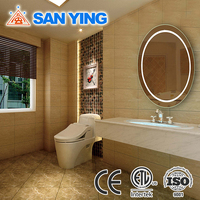 Hotel style round wash basin mirror,LED glass mirror
