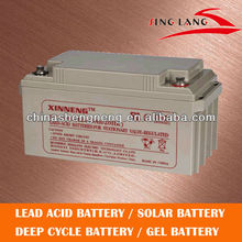 AGM-VRLA Deep cycle rechargeable Battery 12V 65AH(Accumulator)