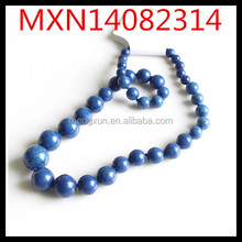 Europe and America bohemian atmosphere blue turquoise necklace natural stone New exaggeration short necklace
