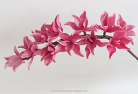 2015 hot selling 12heads magnolia artificial flowers for home decoration